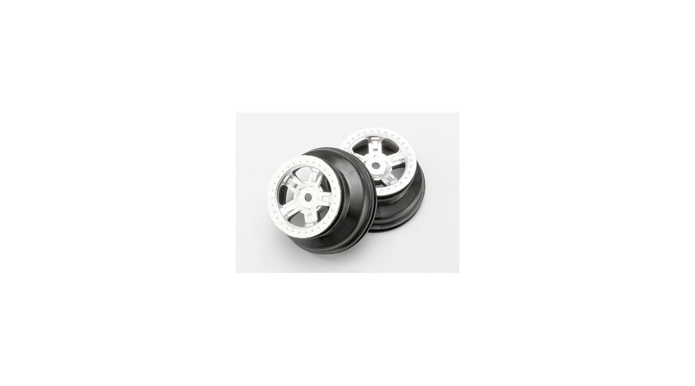 Image for Satin Chrome Wheels (2): 1/16 SLH from HorizonHobby