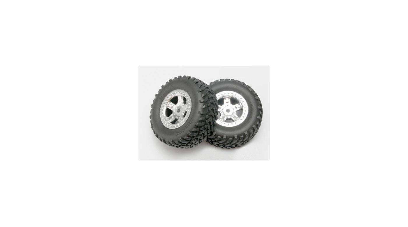 Image for Chrome Wheel,RacingTire(2): 1/16 SLH from HorizonHobby