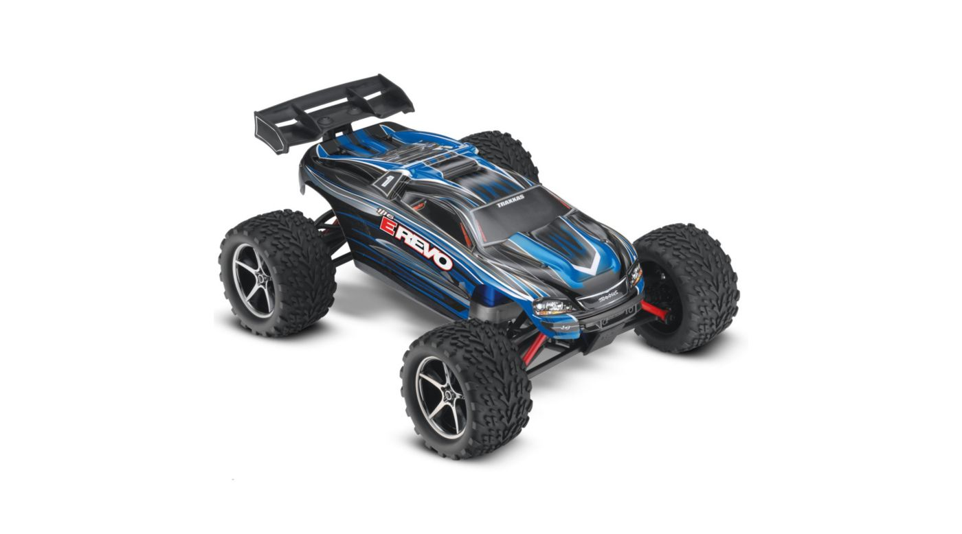 Image for 1/16 E-Revo Brushed RTR w/ 2-Ch Radio System  Blue from HorizonHobby