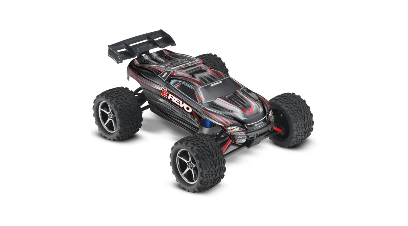 Image for 1/16 E-Revo Brushed RTR w/ 2-Ch Radio System Black from HorizonHobby