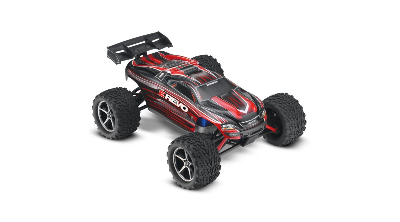 Image for 1/16 E-Revo Brushed RTR w/ 2-Ch Radio System  Red from HorizonHobby