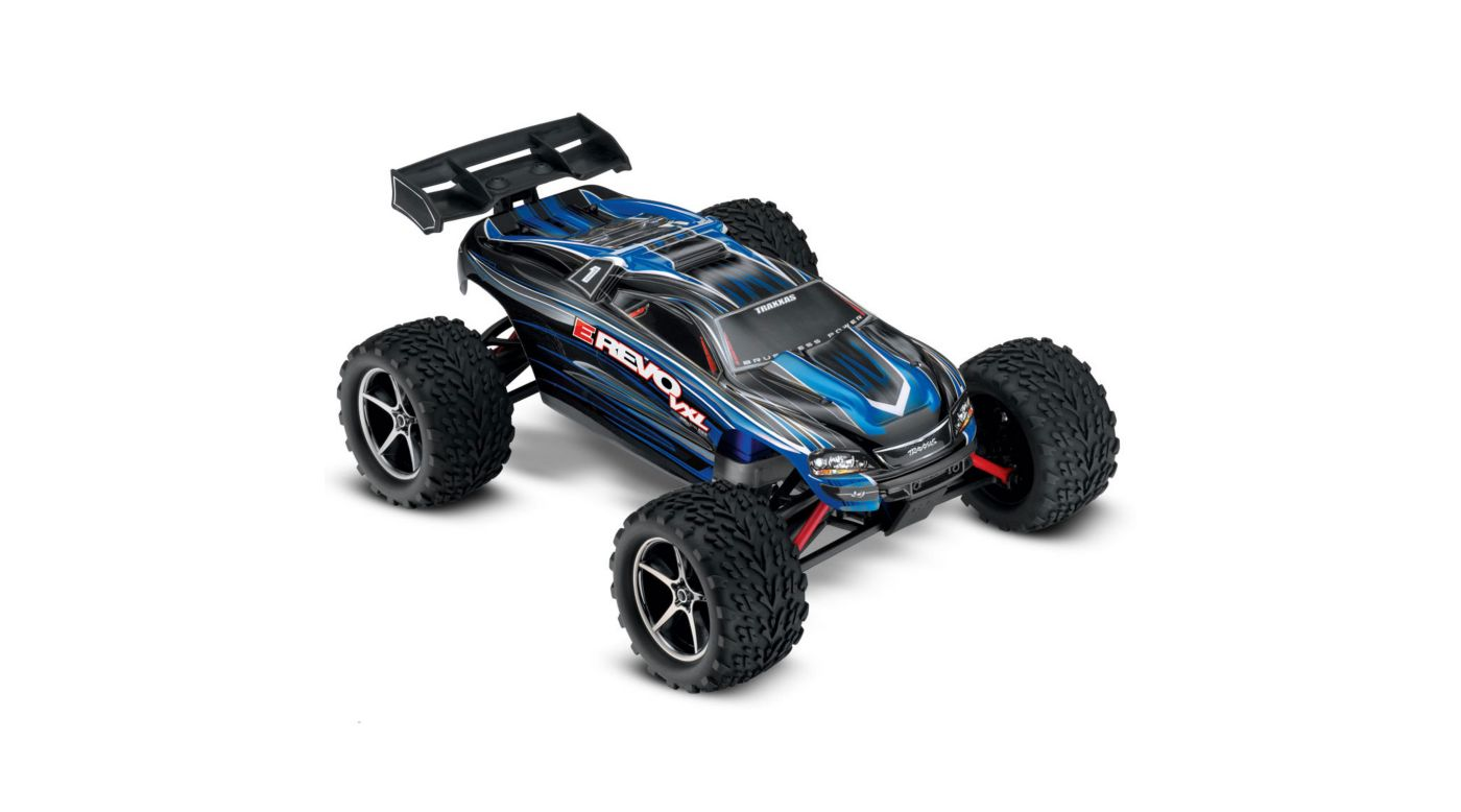 Image for 1/16 E-Revo VXL 4WD Monster Truck Brushless RTR with TSM, Blue from HorizonHobby