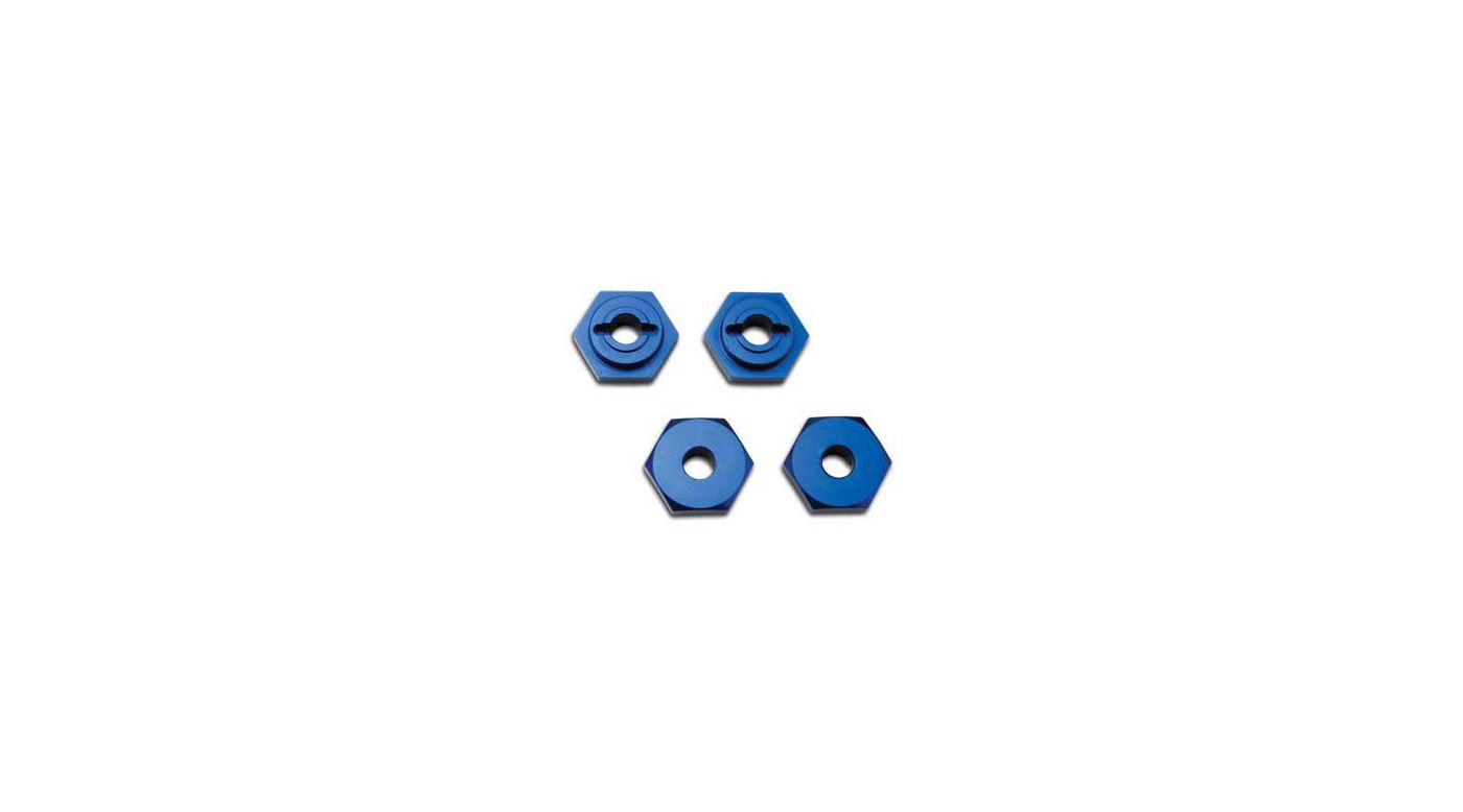 Image for Alum Hex Wheel Hubs, Blue (4): 1/16 SLH, ERV from HorizonHobby