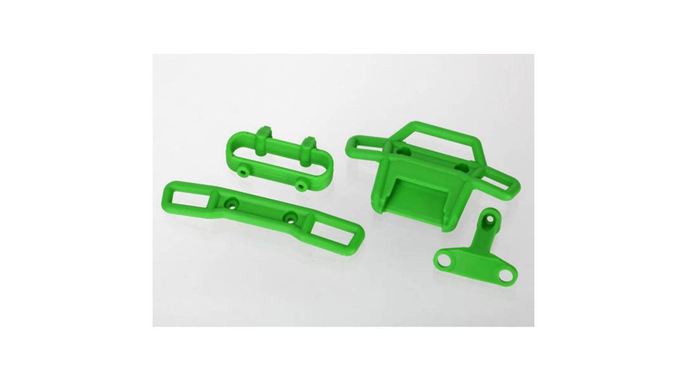 Image for Front and Rear Bumper, Green: TRA7202A from HorizonHobby