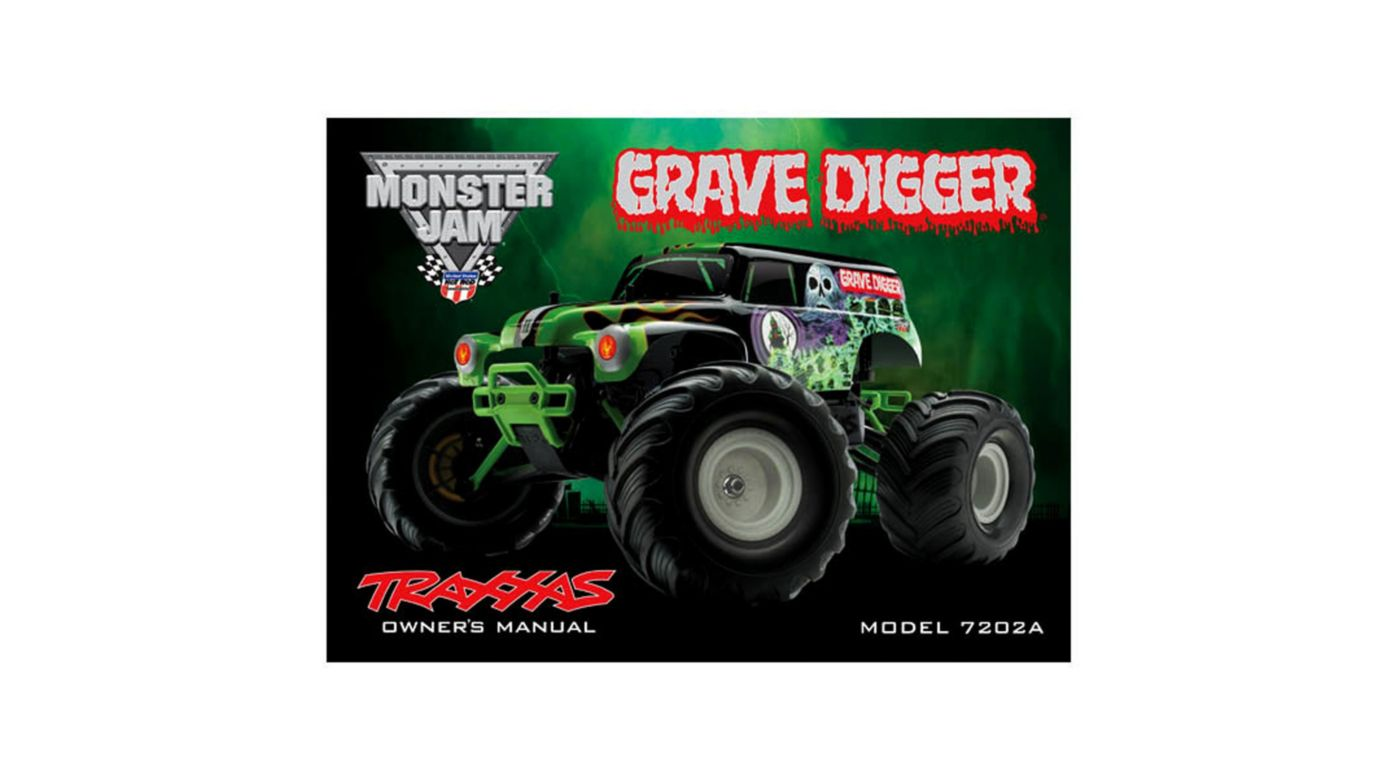 Image for Owner's Manual: 1/16 Grave Digger TRA7202A from HorizonHobby
