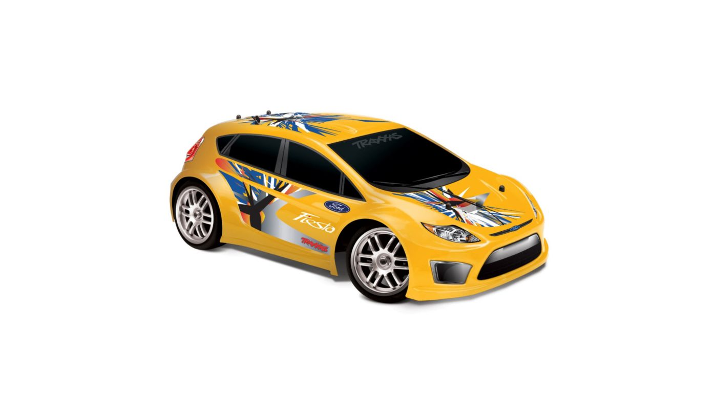 Image for 1/16 Ford Fiesta 4WD RTR W/ AM 2-Ch Radio  Yellow from HorizonHobby