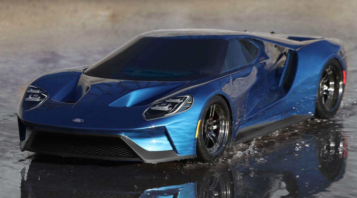 Image for 1/10 Ford GT AWD 4-TEC 2.0 Brushed RTR with TSM, Liquid Blue from HorizonHobby