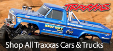 From great looking officially licensed cars and trucks, HUGE off road monster trucks, ballistic speed boats and all the parts and accessories to take your driving to the next level Traxxas and Horizon Hobby are your source for driving RC fun.