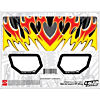 Losi 8/8T Venom Wing Graphic Kit: Red/Yellow