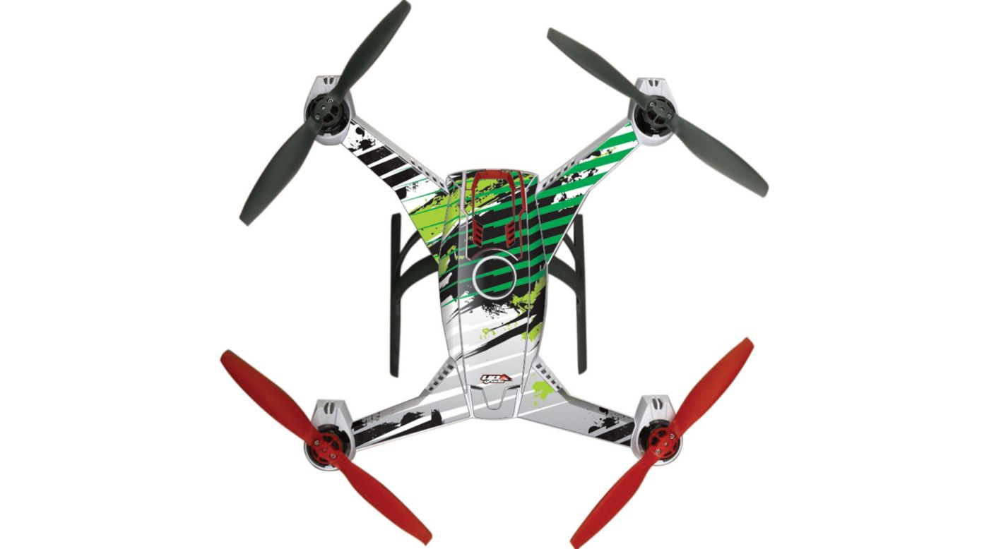 Image for Upgrade Blade 350 QX2 AP Hyper Skins, Manic Green from HorizonHobby