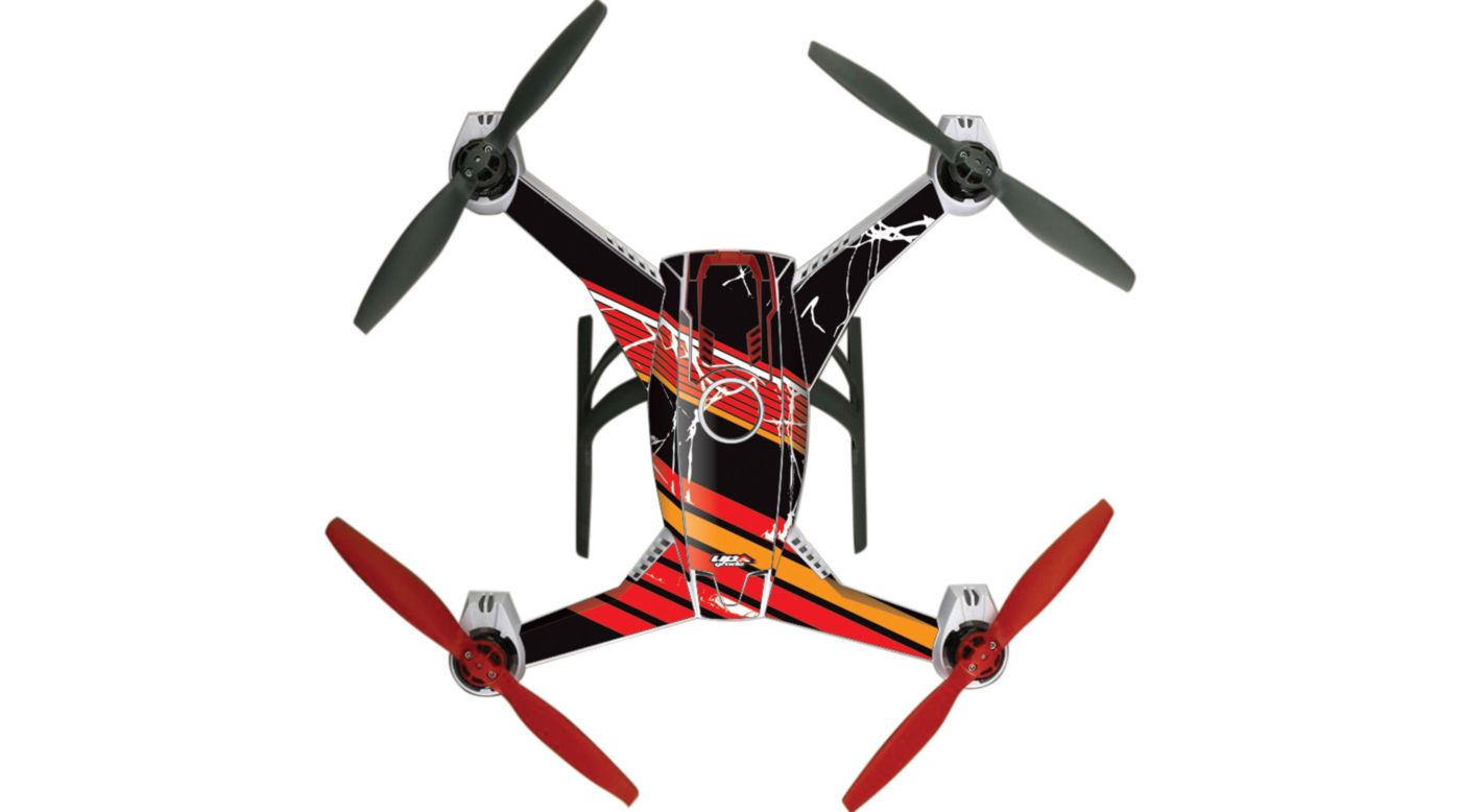 Image for Upgrade Blade 350 QX2 AP Hyper Skins, Retro 2 Red from HorizonHobby