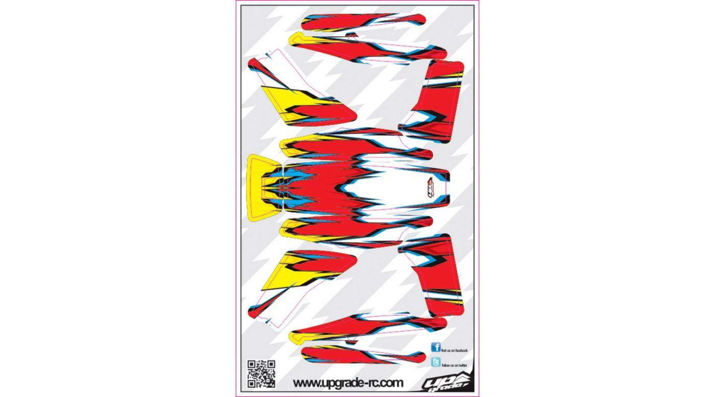 Image for Macro Skin, Red/Yellow: Blade 200 QX from HorizonHobby