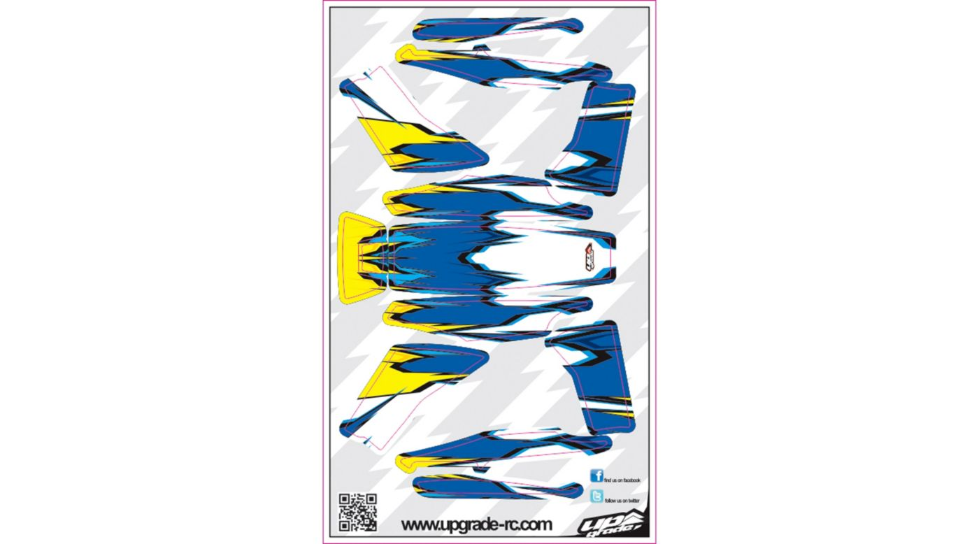Image for Macro Skin, Blue/Yellow: Blade 200 QX from HorizonHobby