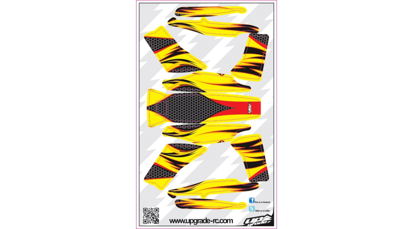 Image for Jinx Skin, Red/Yellow: Blade 200 QX from HorizonHobby