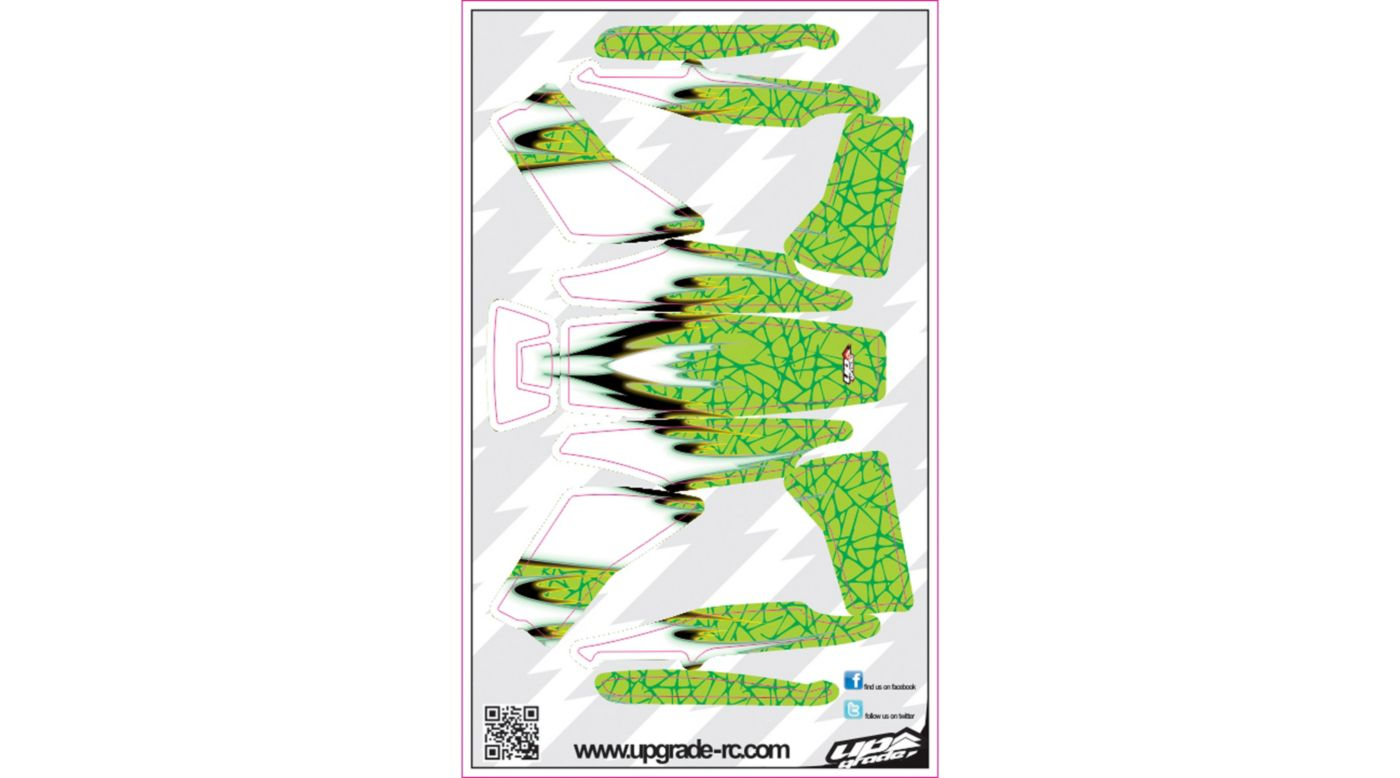Image for DNA Skin, Green: Blade 200 QX from HorizonHobby