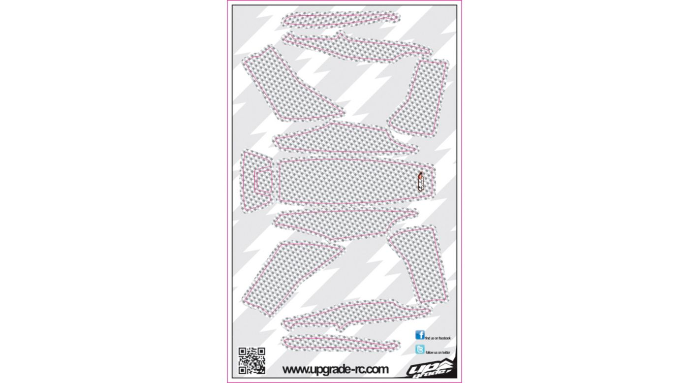 Image for Carbon Skin, White: Blade 200 QX from HorizonHobby