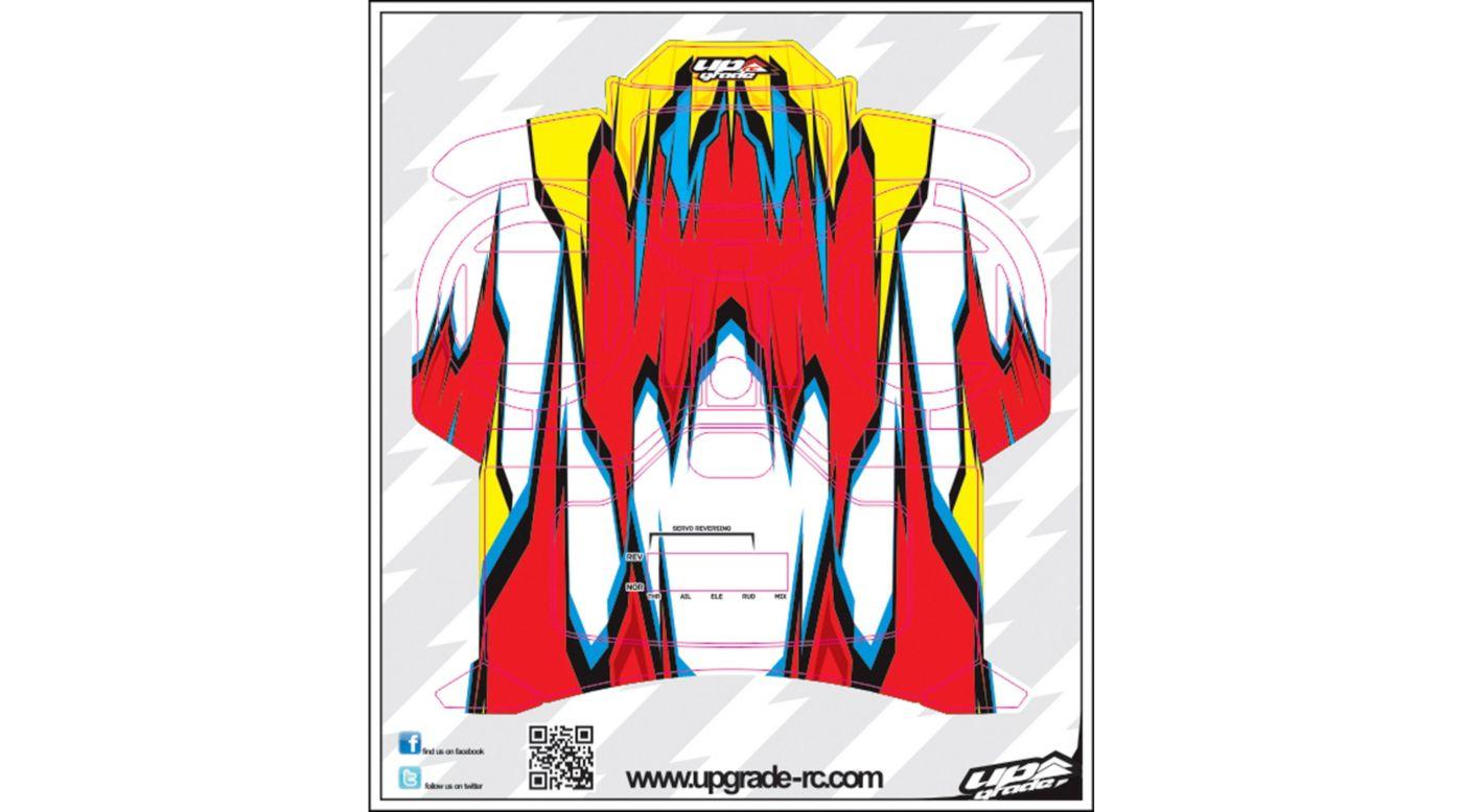 Image for Macro Skin, Red/Yellow: Spektrum DX5e from HorizonHobby