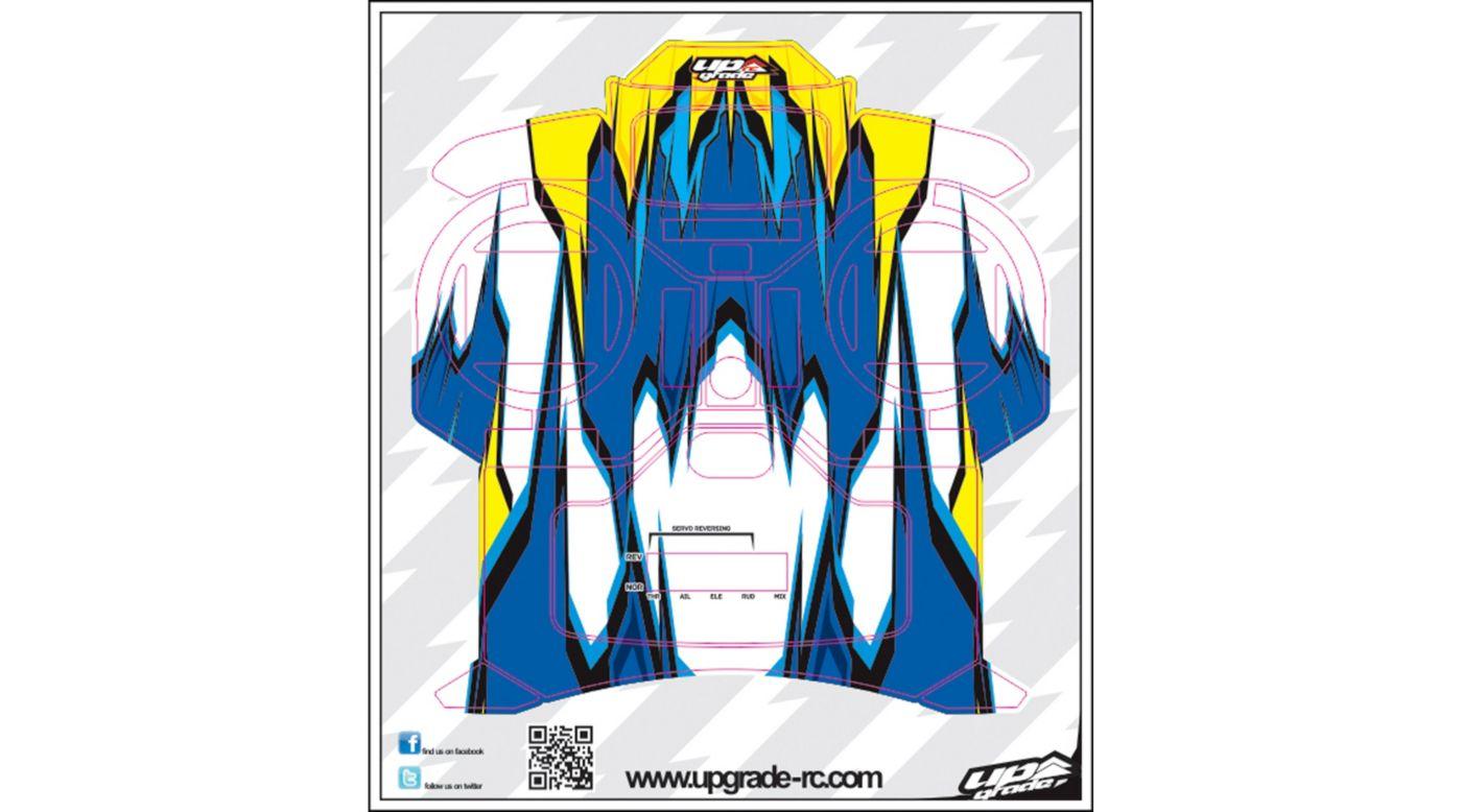 Image for Macro Skin, Blue/Yellow: Spektrum DX5e from HorizonHobby
