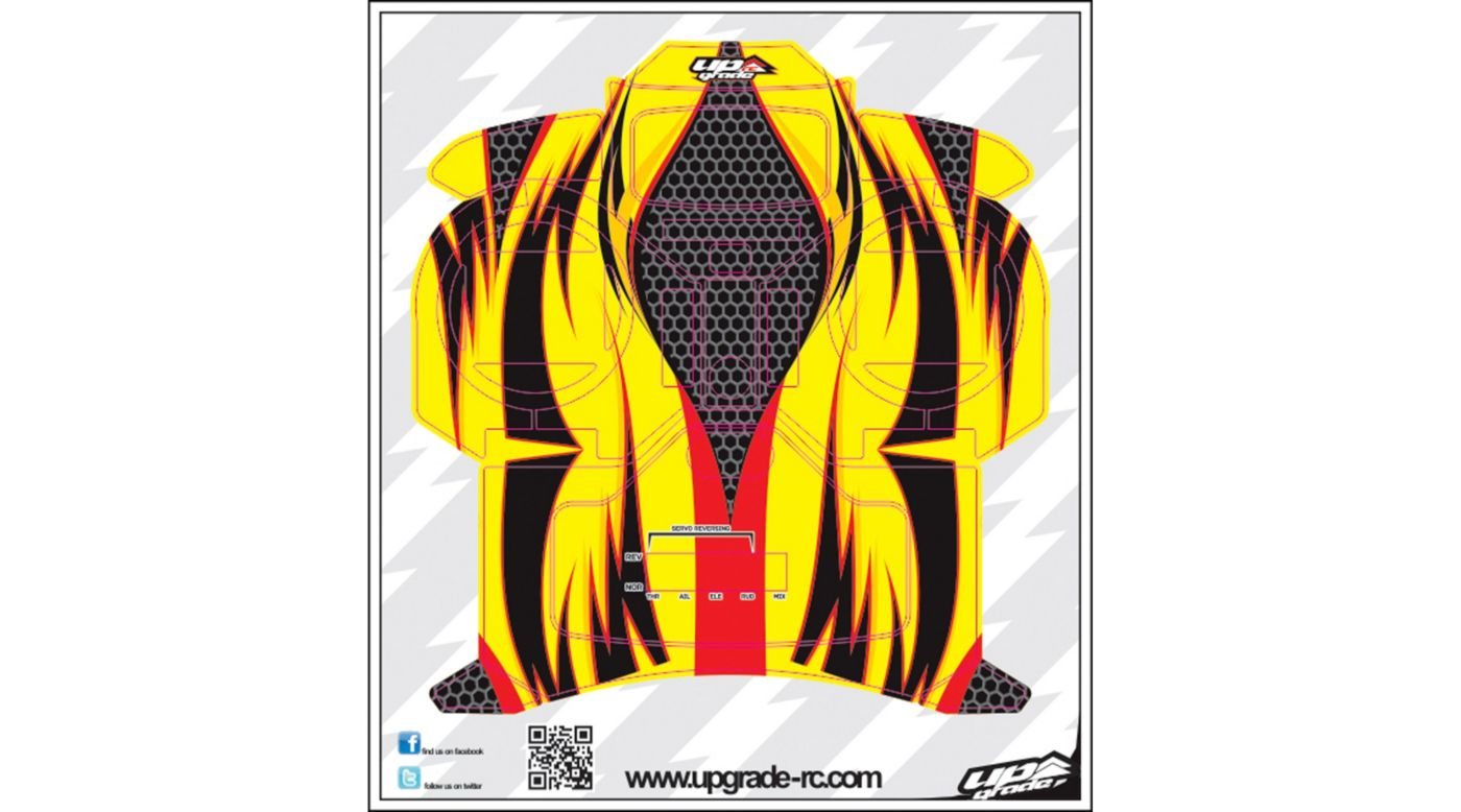 Image for Jinx Skin, Red/Yellow: Spektrum DX5e from HorizonHobby