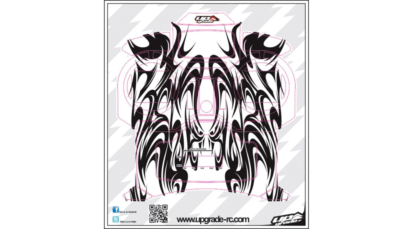 Image for Kabuki Skin, Black: Spektrum DX5e from HorizonHobby