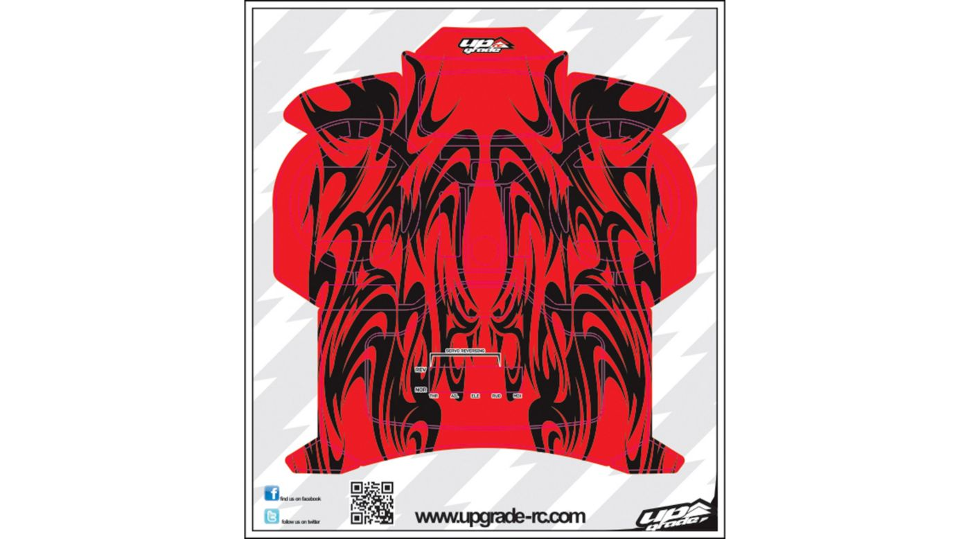 Image for Kabuki Skin, Red: Spektrum DX5e from HorizonHobby