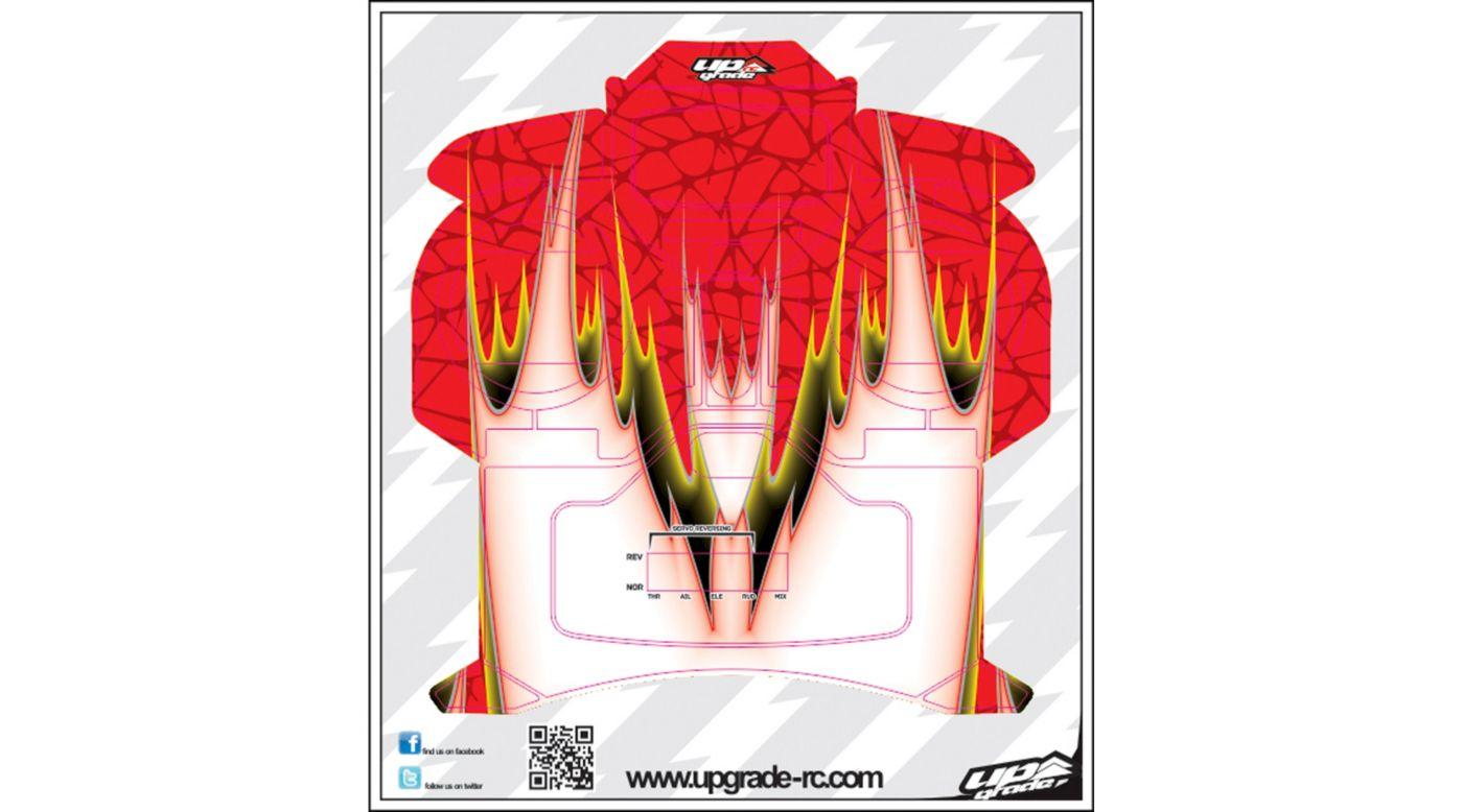 Image for DNA Skin, Red: Spektrum DX5e from HorizonHobby
