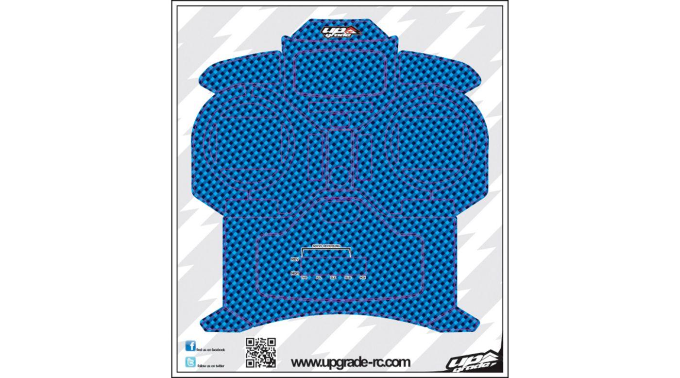 Image for Carbon Skin, Blue: Spektrum DX5e from HorizonHobby