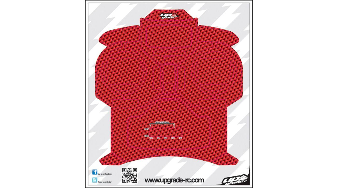 Image for Carbon Skin, Red: Spektrum DX5e from HorizonHobby