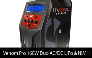 Venom Pro Duo 80W X2 Dual AC/DC 7A LiPo/LiHV & NiMH RC Battery Balance Charger VNR0685