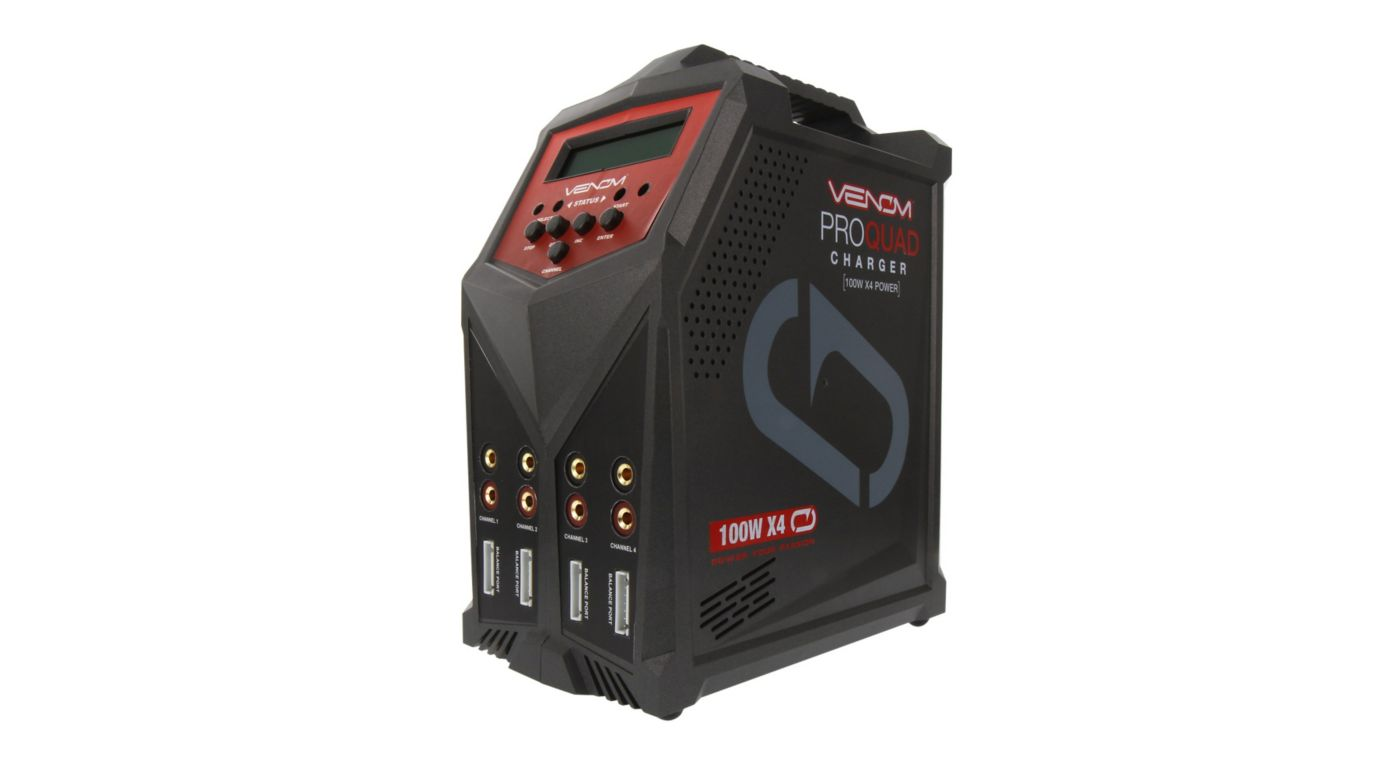 Image for Pro Quad 100W 7A 4-Port AC/DC Battery Charger from Horizon Hobby