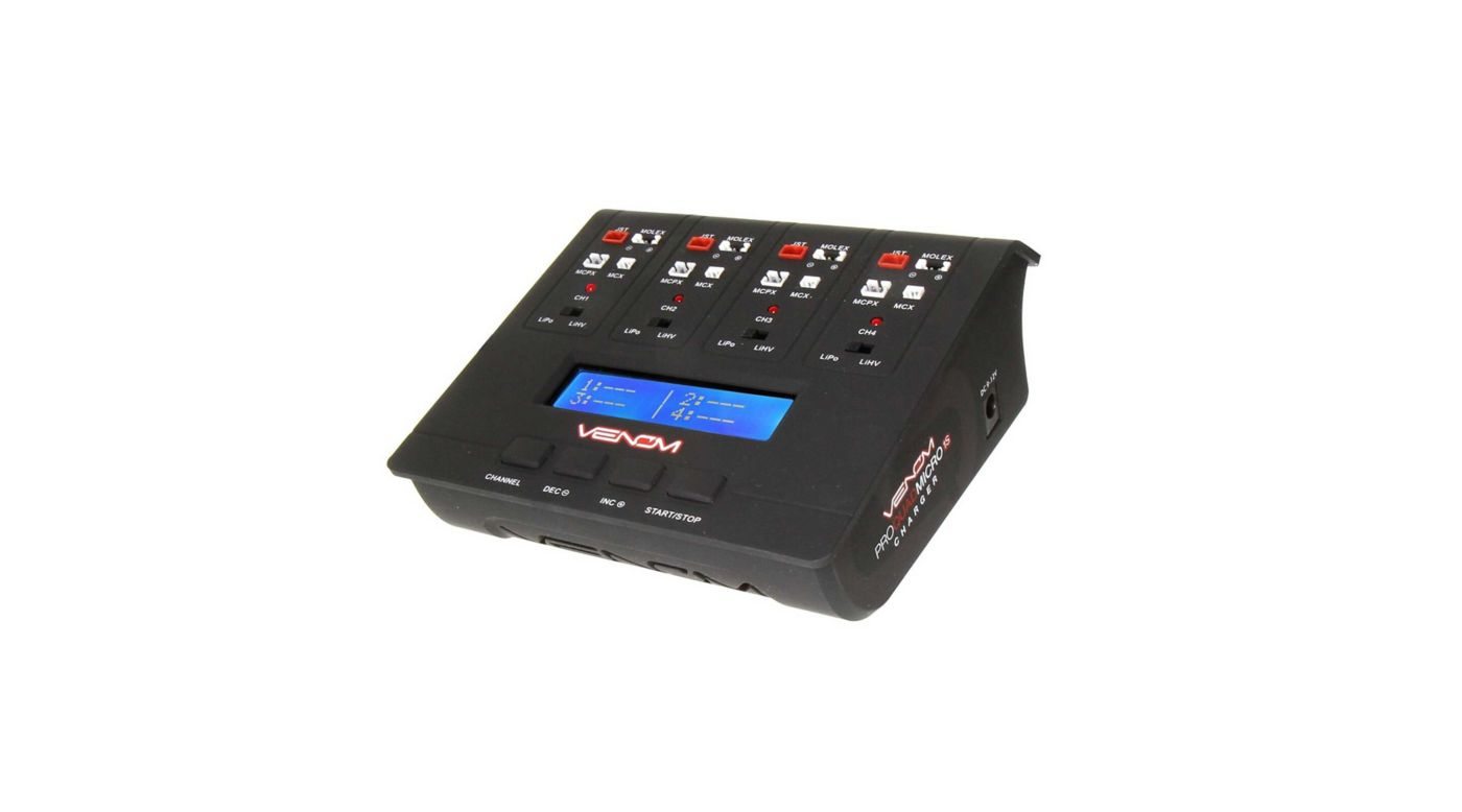 Image for Pro Quad Micro 1S 4 Channel AC/DC LiPo and LiHV Charger from HorizonHobby