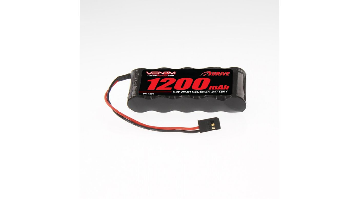 Image for 6.0V 1200mAh 5-Cell DRIVE NiMH Flat Receiver Battery: Universal Receiver from HorizonHobby