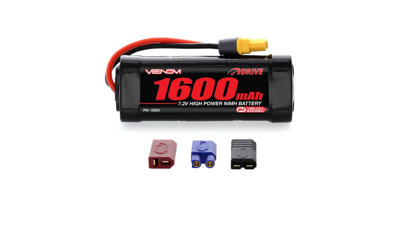 Image for DRIVE 7.2V 1600mAh 6-Cell NiMH Battery, UNI 2.0 Plug: 1/16 from HorizonHobby