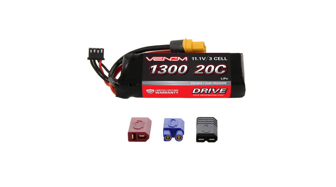 Image for 11.1V 1300mAh 3S 20C DRIVE LiPo Battery: UNI 2.0 Plug from HorizonHobby
