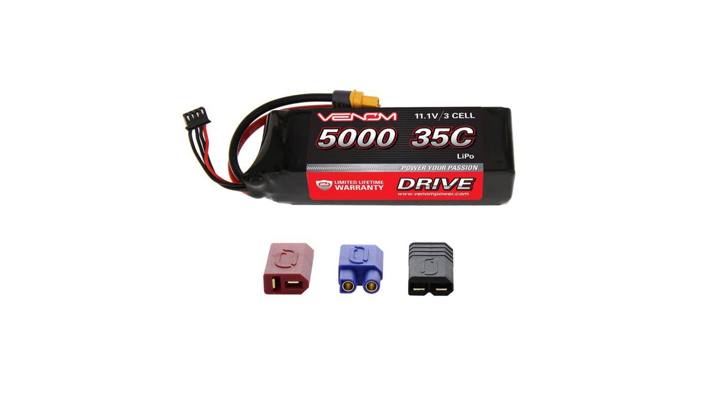 Image for DRIVE 11.1V 5000mAh 35C 3S LiPo Battery, UNI 2.0 Plug from HorizonHobby
