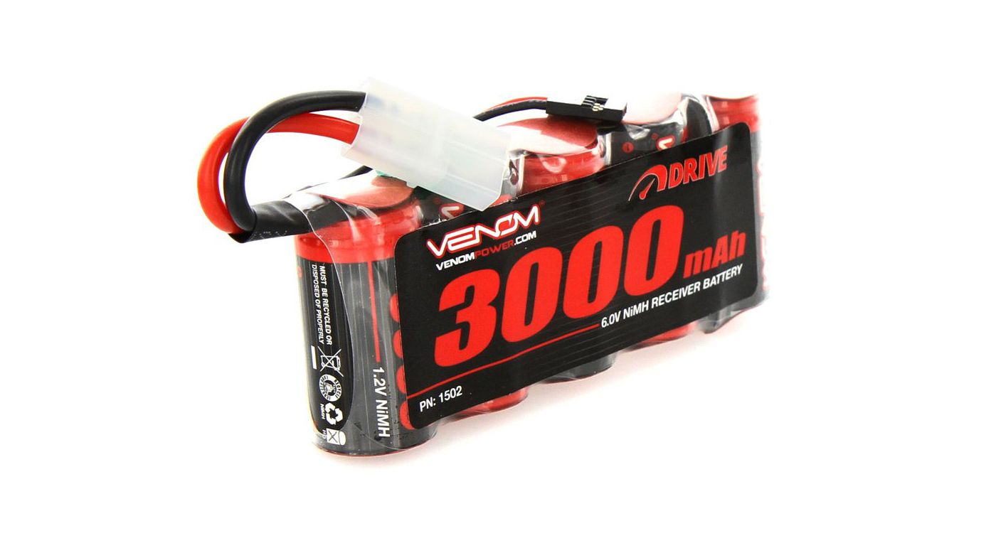 Image for 6.0V 3000mAh 5-Cell DRIVE Large Scale Receiver Battery: Universal Receiver, Tamiya from HorizonHobby