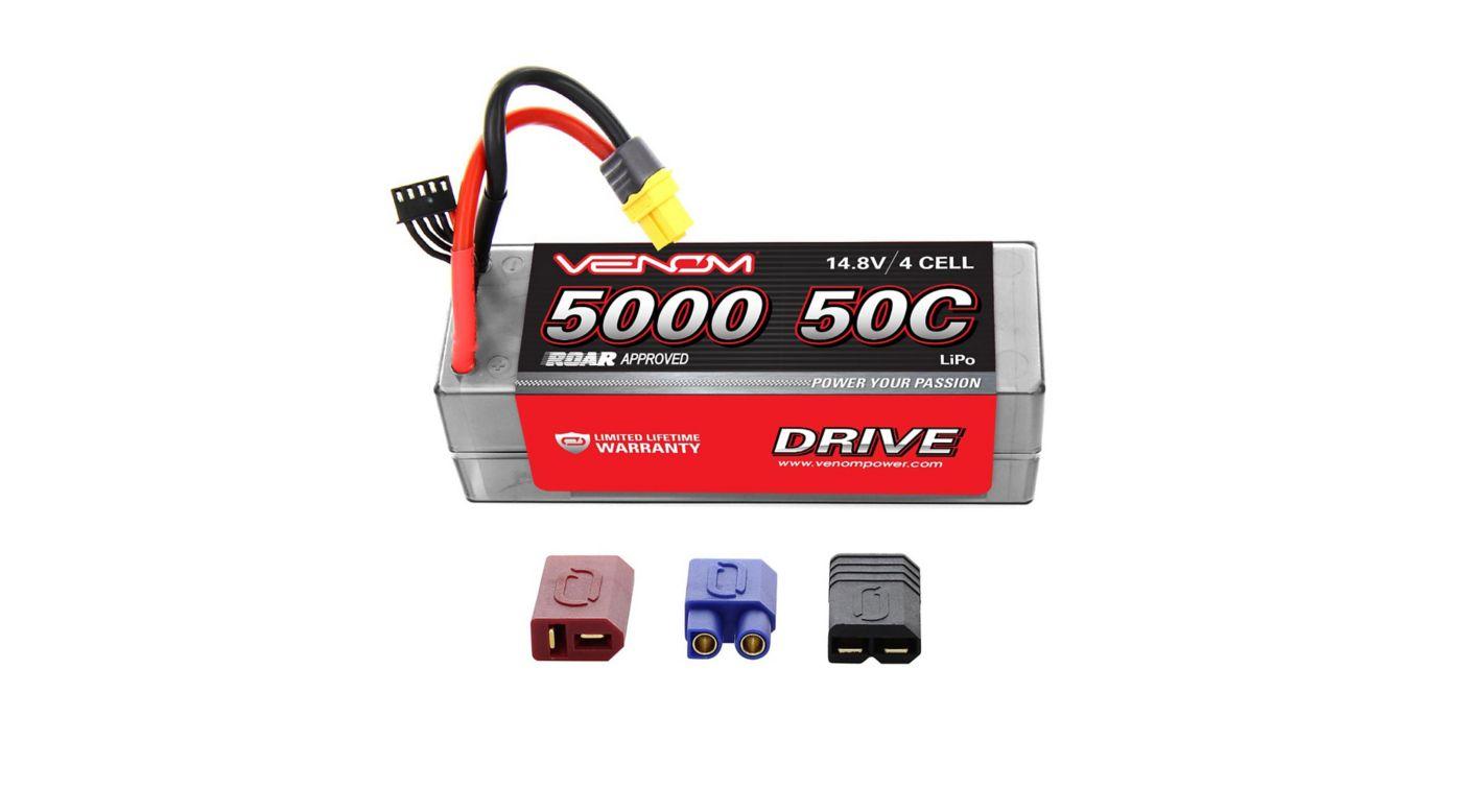 Image for 14.8V 5000mAh 4S 50C DRIVE  Hardcase LiPo Battery: UNI 2.0 Plug from HorizonHobby