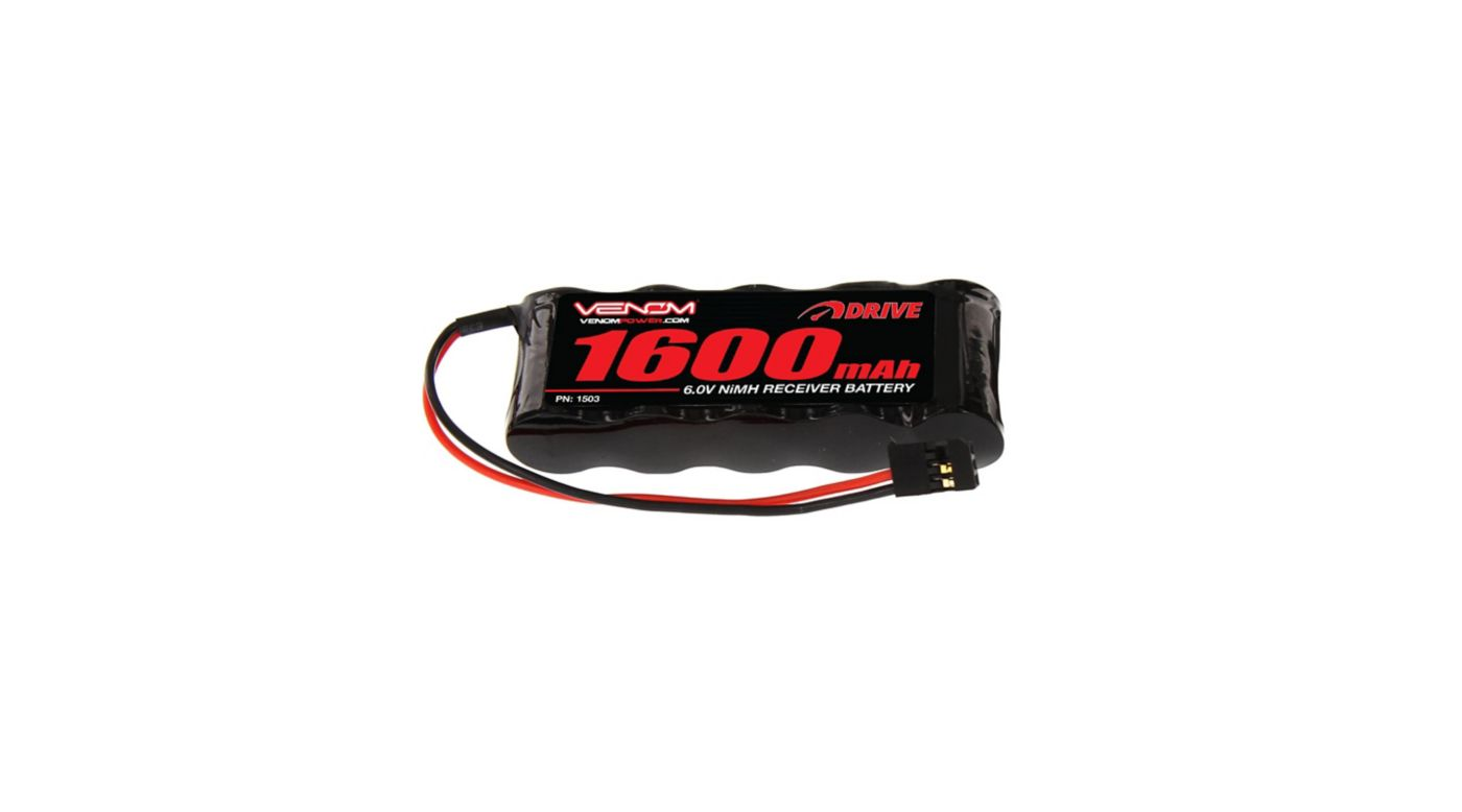 Image for 6.0V 1600mAh 5-Cell DRIVE NiMH Flat Receiver Battery: Universal Receiver from HorizonHobby