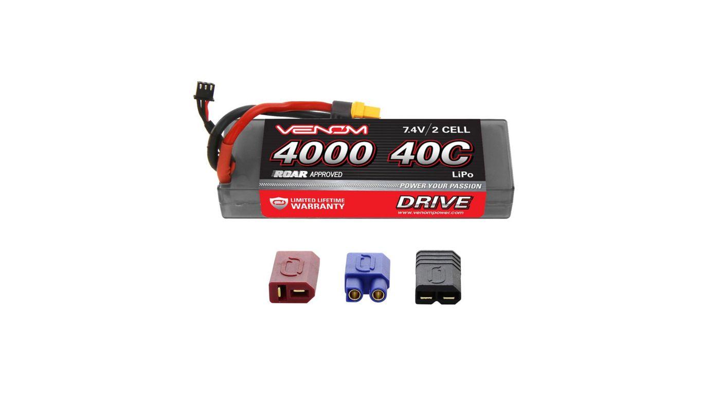 Image for 7.4V 4000mAh 2S 40C DRIVE Sport Power LiPo Battery: UNI 2.0 Plug from HorizonHobby