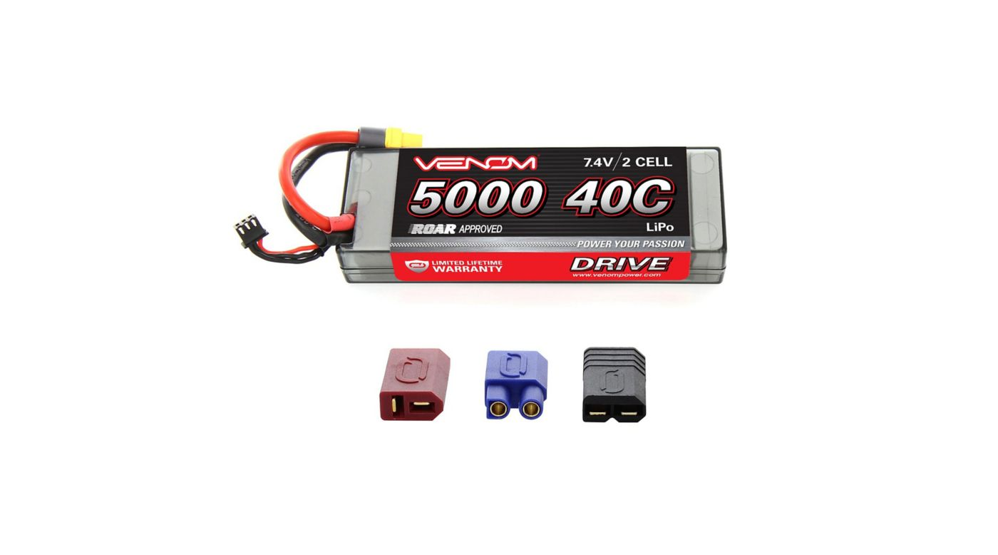 Image for 7.4V 5000mAh 2S 40C DRIVE Sport Power LiPo Battery: UNI 2.0 Plug from HorizonHobby