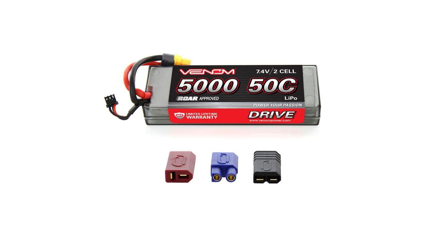 Image for 7.4V 5000mAh 2S 50C DRIVE Sport Power LiPo Battery: UNI 2.0 Plug from HorizonHobby