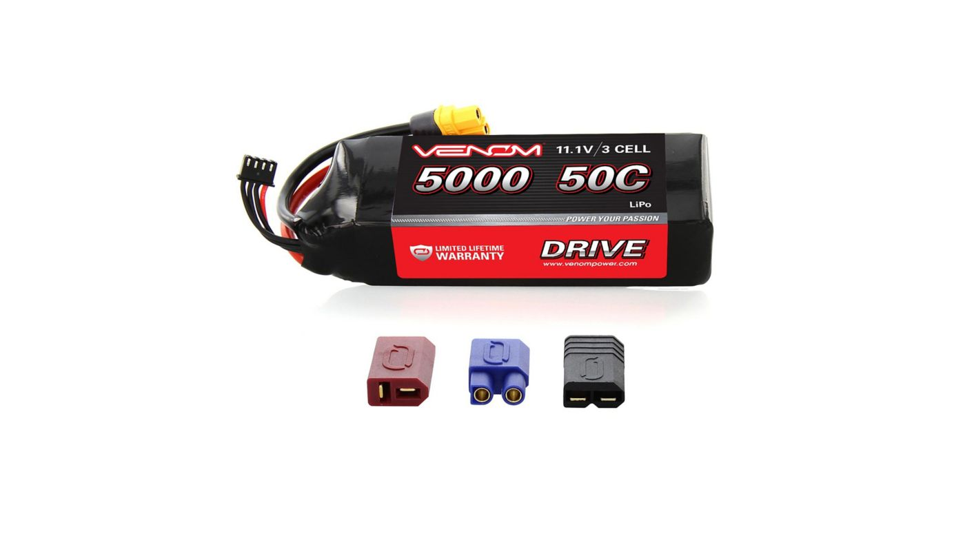 Image for 11.1V 5000mAh 3S 50C DRIVE LiPo Battery: UNI 2.0 Plug from HorizonHobby