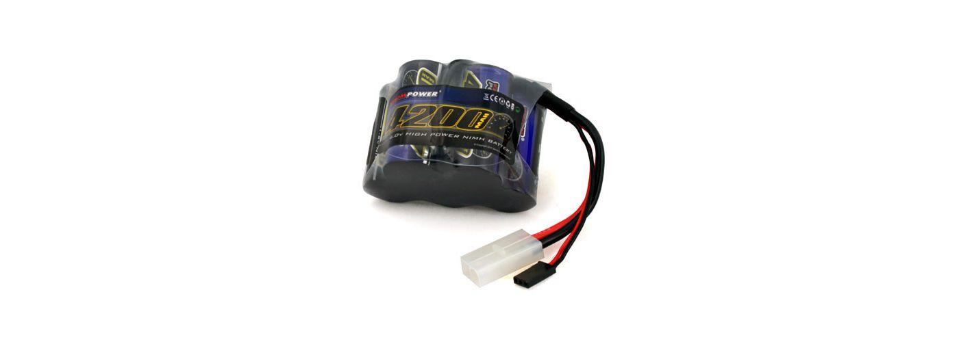 5 Cell 6V 4200mAh NiMH Receiver Pack: HPI Baja, TAM  (VNR1505)