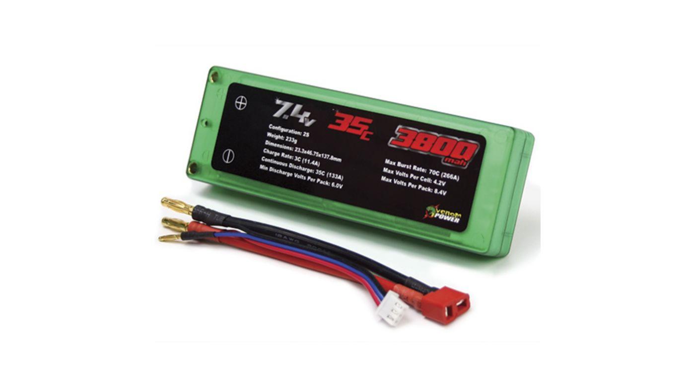 Image for 3800mAh 2S 7.4V 35C LiPo, Hard Case from HorizonHobby