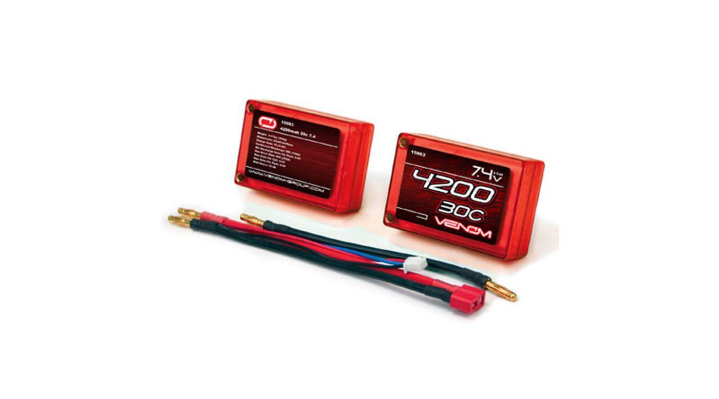 Image for 4200mAh 2S2P 7.4V 30C LiPo Hard Case Saddle Pack from HorizonHobby