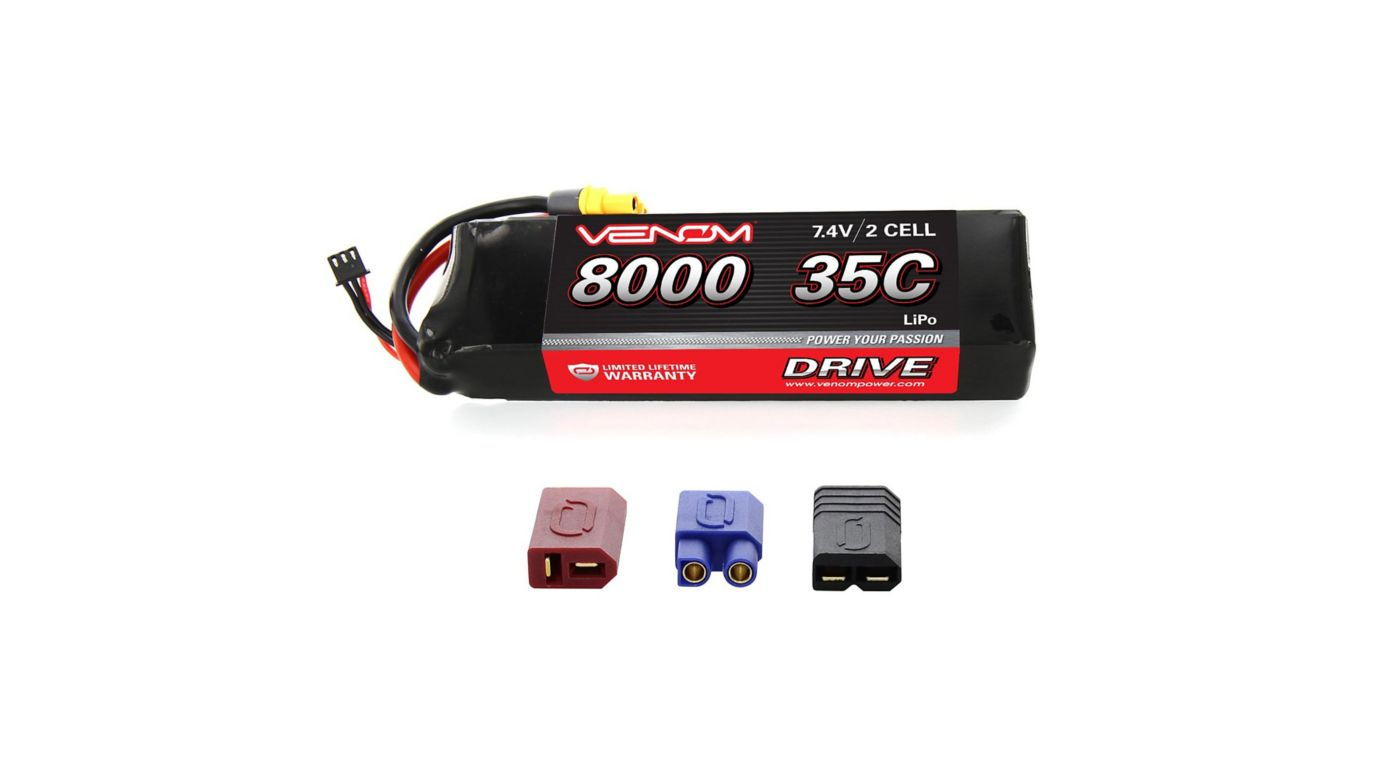 Image for 7.4V 8000mAh 2S 35C DRIVE LiPo Battery: UNI 2.0 Plug from HorizonHobby