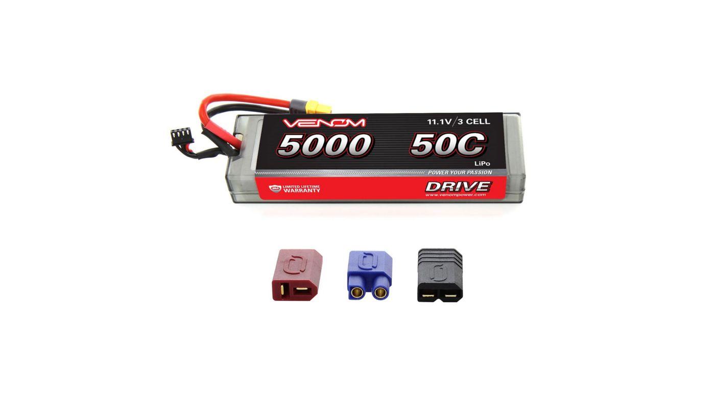 Image for 11.1V 5000mAh 3S 50C DRIVE Hardcase LiPo Battery: UNI 2.0 Plug from HorizonHobby