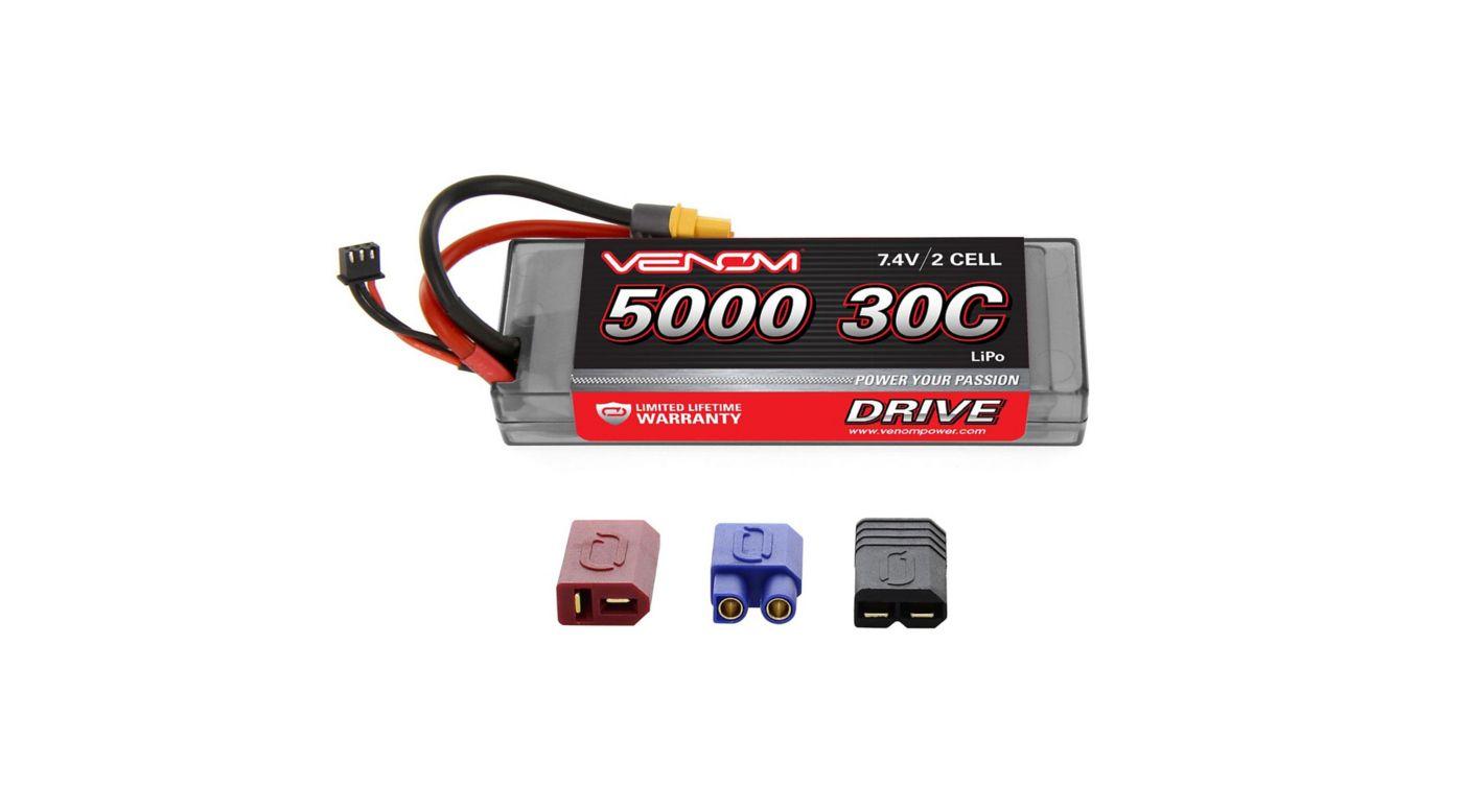 Image for DRIVE 7.4V 5000mAh 30C 2S Hardcase LiPo Battery - ROAR, UNI 2.0 Plug from HorizonHobby