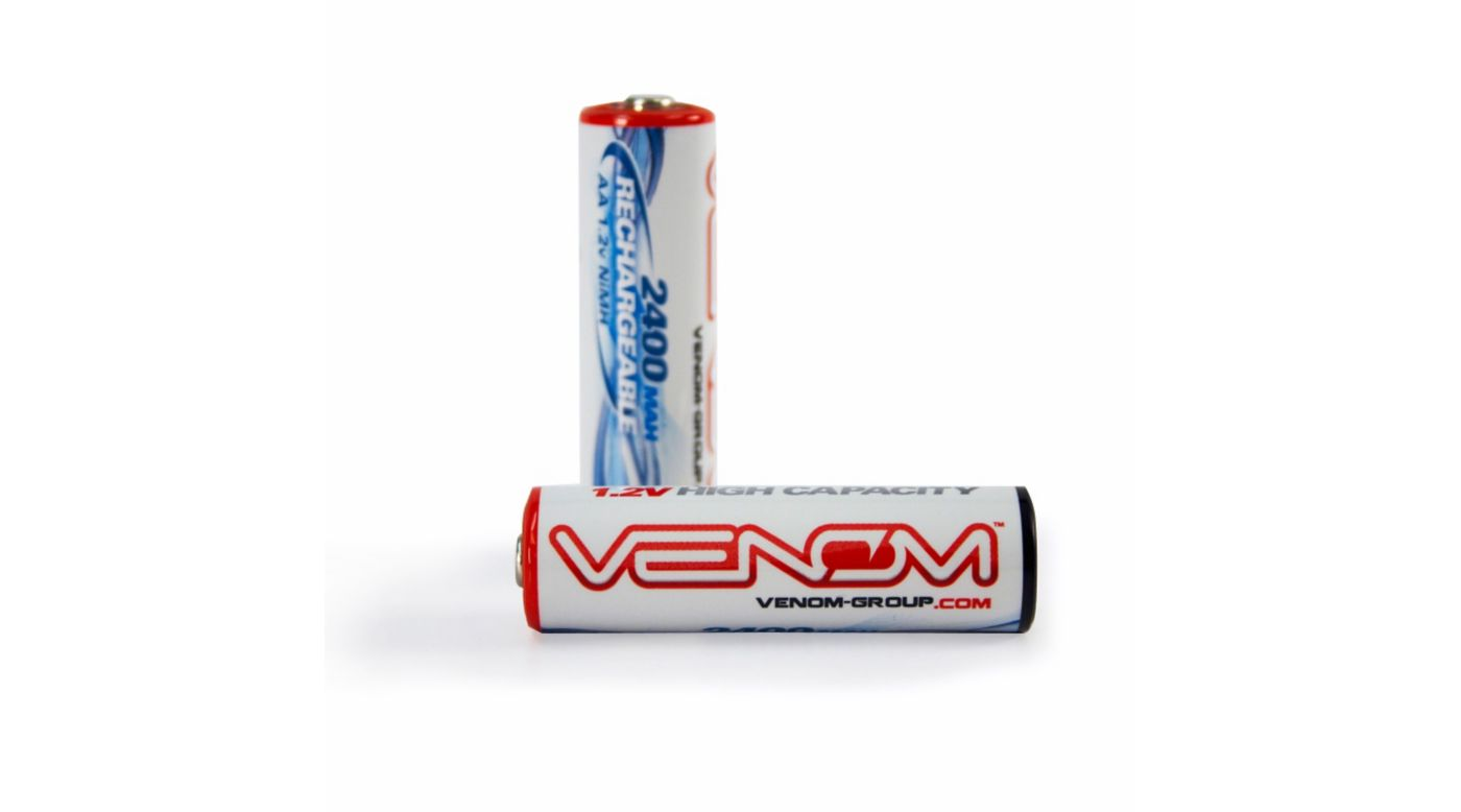 Image for 1.2V 2400mAh Rechargeable AA NiMH Batteries: 4pc from HorizonHobby
