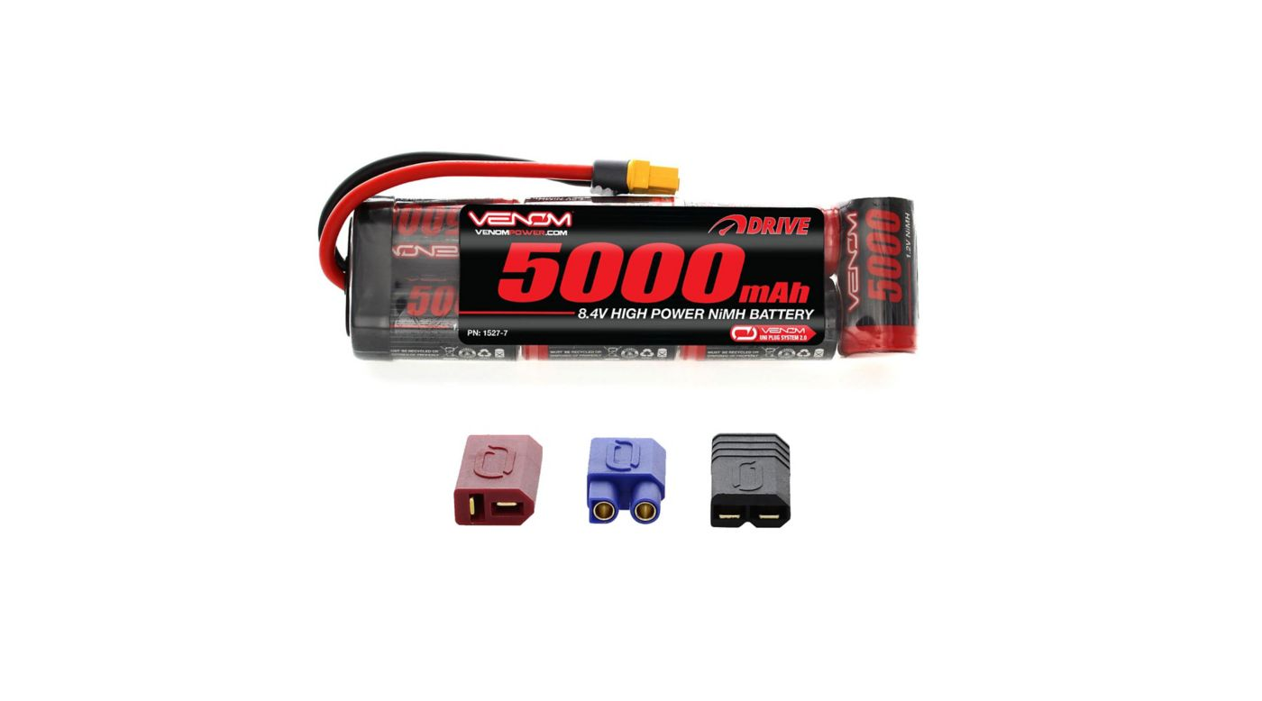 Image for 8.4V 5000mAh 7-Cell DRIVE Flat NiMH Battery: UNI 2.0 Plug from HorizonHobby